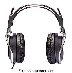 Headphones isolated on white
