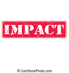 impact - Grunge rubber stamp with text impact, vector...