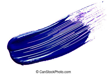 Blue paint tray isolated over white