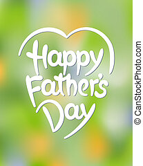 Happy fathers day hand-drawn lettering Eps 8 vector...
