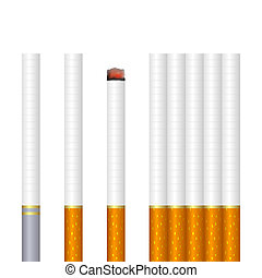 Cigarettes - Some cigarettes on a white background. EPS-10....