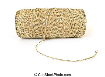 Roll of twine isolated on white background