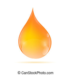 Oil Orange Drop Vector Illustration