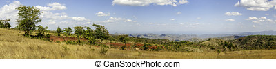 Panoramic view of the Ethiopian countryside - Panoramic view...