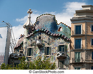 Barcelona - Casa Battlo - BARCELONA, SPAIN - JUNE 28, 2008:...