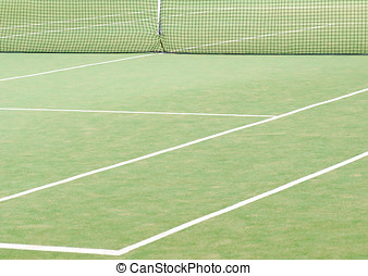 Tennis court - View of empty tennis court for backgrounds