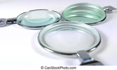concave, convex prismatic eye lenses