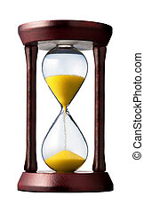 hourglass closeup shot (isolated - white background)