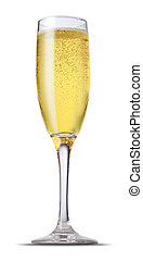 Champagne glass - champagne glass isolated on the white...