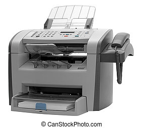 Fax machine isolated - The modern multipurpose device: a...