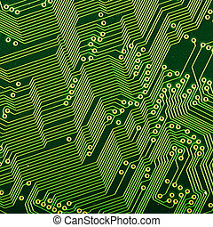 microcircuit - Close up view of the abstract microcircuit