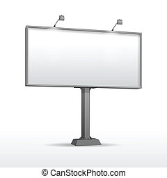 Blank Outdoor Billboard with Place for Message - Vector...