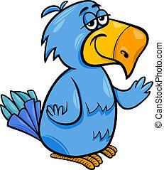 funny parrot bird cartoon illustration