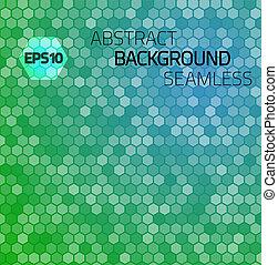 Extracto, hexágono, vector, seamless, patrón,...