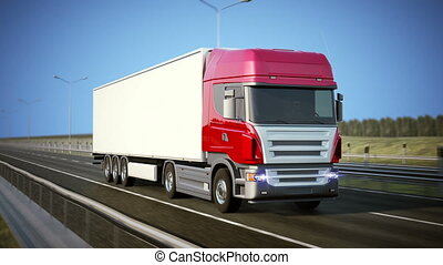 Logistics - Trucking - High quality 3d animation. Loopable