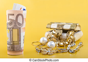 Cash for Gold Jewelry Concept