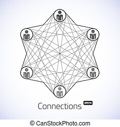 Geometric connections vector illustration