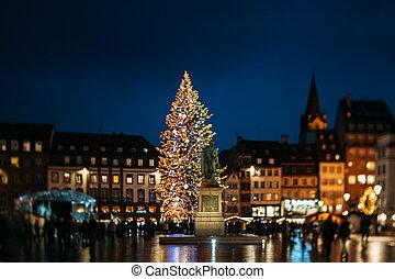 Famous Strasbourg Christmas Tree - STRASBOURG, FRANCE -...