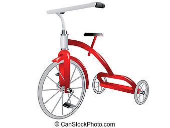 tricycle isolated on white background, 10 PS