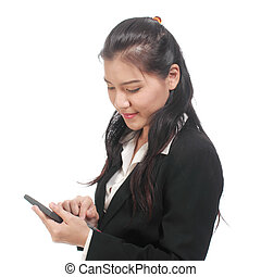 business woman with calculato