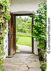 Entrance of a Farm House