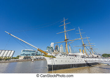 Puerto Madero district in Buenos Aires, Argentina. - Puerto...