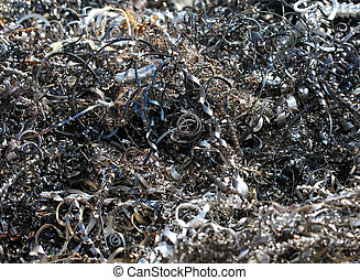 many curls of metal 2 - curls of ferrous metal in the dump 2...
