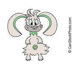 monster  Bunny Rabbit Vector Illustration