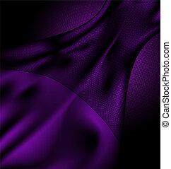 dark purple silk and veil - a dark purple silk and a black...
