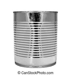 cylindrical can - a cylindrical can on a white background