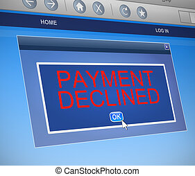 Payment declined concept.