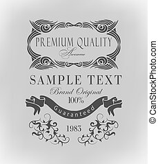 calligraphic design elements ?an be used for invitation,...