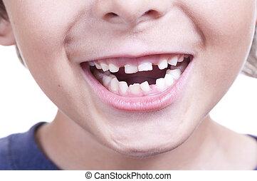 bebé, dientes