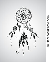 Vector Dream Catcher Mascot,can be used for tattoo