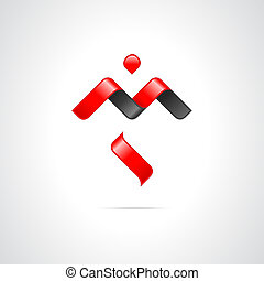 Abstract Vector Logo Design Template - Combination of...
