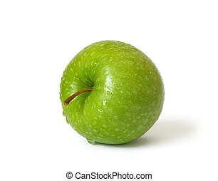 Green apple on a white background - Green apple isolated on...