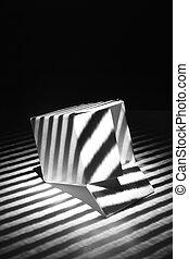 empty box in the dark night (light effect) - empty box in...