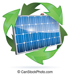 Solar Panel - Green Energy Concept with Solar Panel and...