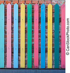 beautiful colore fence - beautiful multi-colored fence