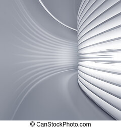 White corridor - Very high resolution 3d rendering of a...
