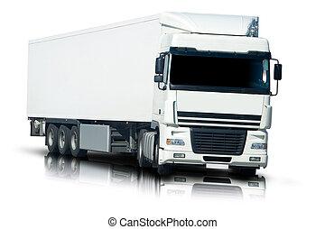 semi, camión