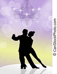 ballroom dancing - illustration of ballroom dancing