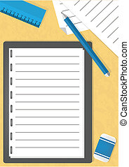 Note pad - Illustration of a note paper