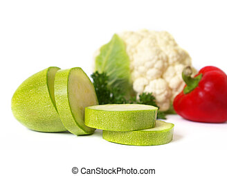Raw vegetables isolated