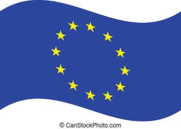 Vector flag. EU