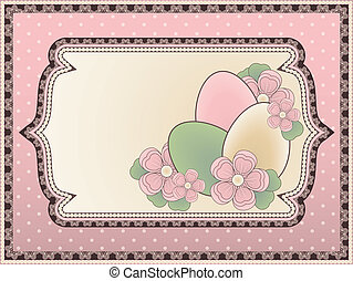 Easter background in vintage style