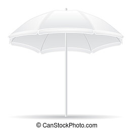 beach umbrella illustration isolated on white background