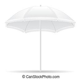 beach umbrella illustration isolated on white background