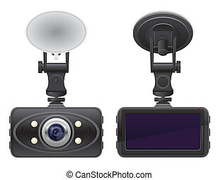 car recorder vector illustration isolated on background