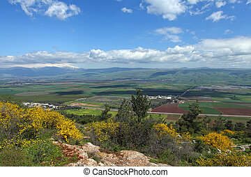 Landscape With Golan Heights,Israel